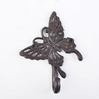 Cast Iron Butterfly Hook Single