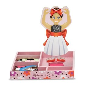 Melissa & Doug  - Magnetic Wooden Dress-Up Nina Ballerina