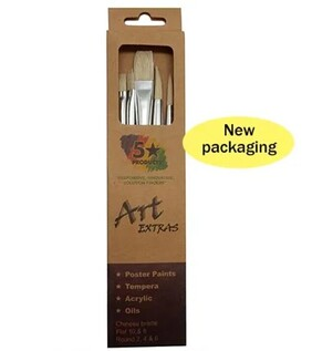 Art Extras - 5 Piece Paint Brushes