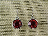Earrings - 10mm Round Red