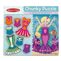Melissa & Doug - Chunky Wooden Puzzle / Mermaid Dress-up