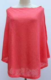 Top - Light Summer Cover - Coral