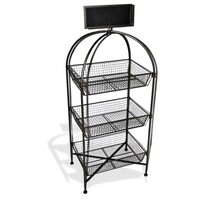 3 Tier Mesh Basket Stand with Blackboard