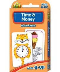 School Zone Flash Cards - Time and money flash cards