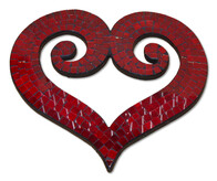 Mosaic Heart - Double Koru / Red