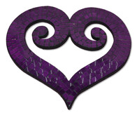 Mosaic Heart - Double Koru / Purple