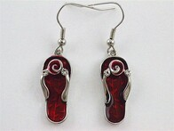 Earrings - Red Jandals