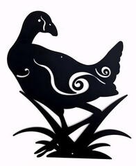 Metal Kiwiana Wall Art / Pukeko