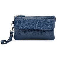 Handbag - Blue Leather Multi Pocket