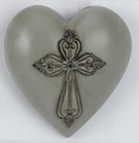 Collectable Heart - Grey Cross