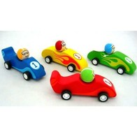 Wooden Pull Back Car / Coloured