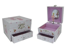 Ballerina Slipper Music Jewellery Box / Small
