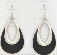 Earrings - Black Pear Hole Earrings