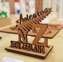 NZ Made Rimu Business Card Holder / Aotearoa NZ