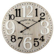 Antiquite Black & White Clock