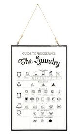Glass Print - Laundry Sign