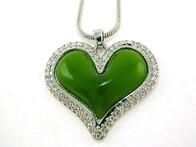 Necklace - Green Heart Necklace