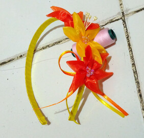 Flower Headband - Orange