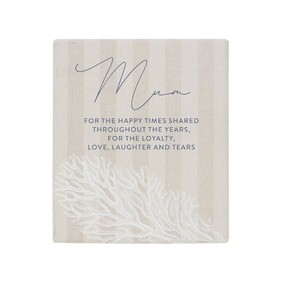 Coastal - Mum Plaque