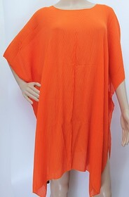 Summer Coverall - Accordion Pleat Orange