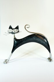 Metal Cat Stretching - Black