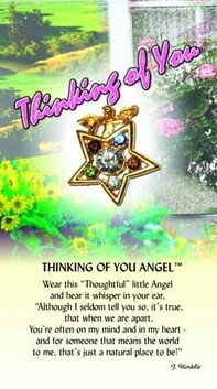 z Affirmation Angel Pin - Thinking of You