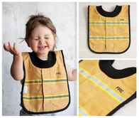 NZ Made Baby Bib / Fireman