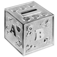 ABC Silver Cube Money Box