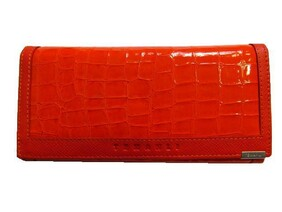Genuine Leather Wallet / Orange
