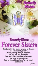 z Affirmation Angel Pin - Butterfly Kisses Sisters Forever