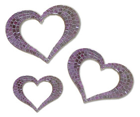 Mosaic Heart Outline / Purple