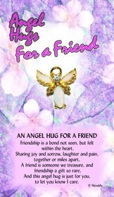 z Affirmation Angel Pin - Hugs for a Friend