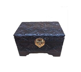 Jewellery Box - Carved Wooden Jewellery Box - 15cm x 10cm