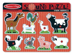 Melissa & Doug - Farm Animals Sound Puzzle""