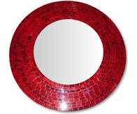 Mosaic Mirror 60cm / Red
