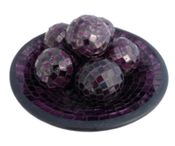 Mosaic Ball 8cm / Purple