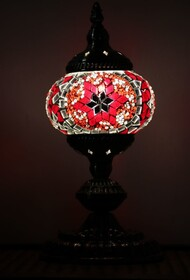 Turkish Mosaic Lamp - Small Red