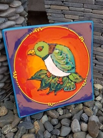 NZ Made Handpainted - Theme Plates 19cm - Kereru