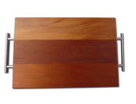 Rimu Chopping Board with Stainless Handles / Large