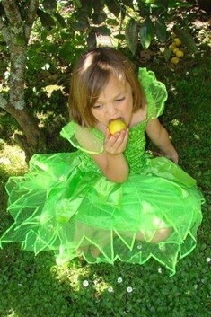 Lime Green Petal Dress