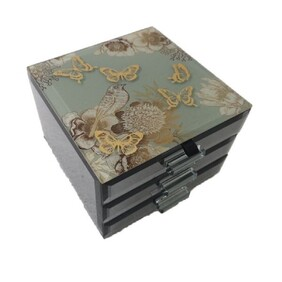 Jewellery Box - Vintage Gold - 2 Drawer