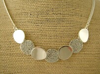 Necklace - Silver Disc Necklace