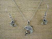 Necklace - Diamante Dolphin Set