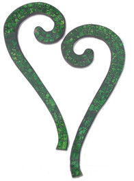 Mosaic Heart Wall Art 2pc / Green