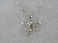 Sterling Silver - Butterfly Pendant