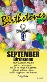 z Affirmation Angel Pin - Birthstone September