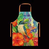 NZ Print Apron - Kingfisher