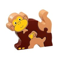Wooden Puzzle - Monkey & Baby