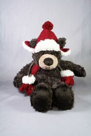 Plush Bear with Scarf & Hat