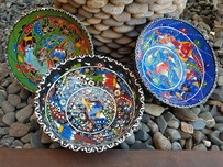 Hand Painted Ceramic Turkish Bowls - 16cm